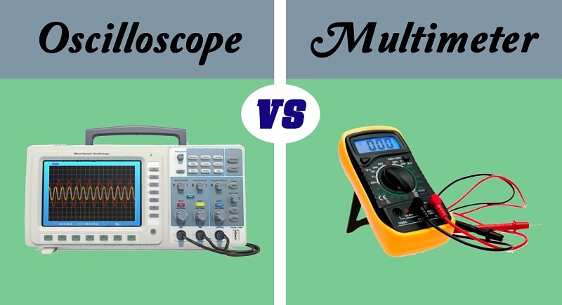 oscilloscope and multimeter