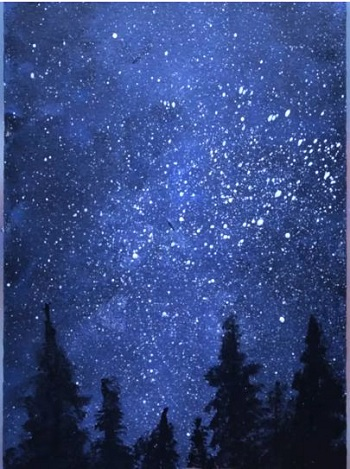 how to paint galaxy